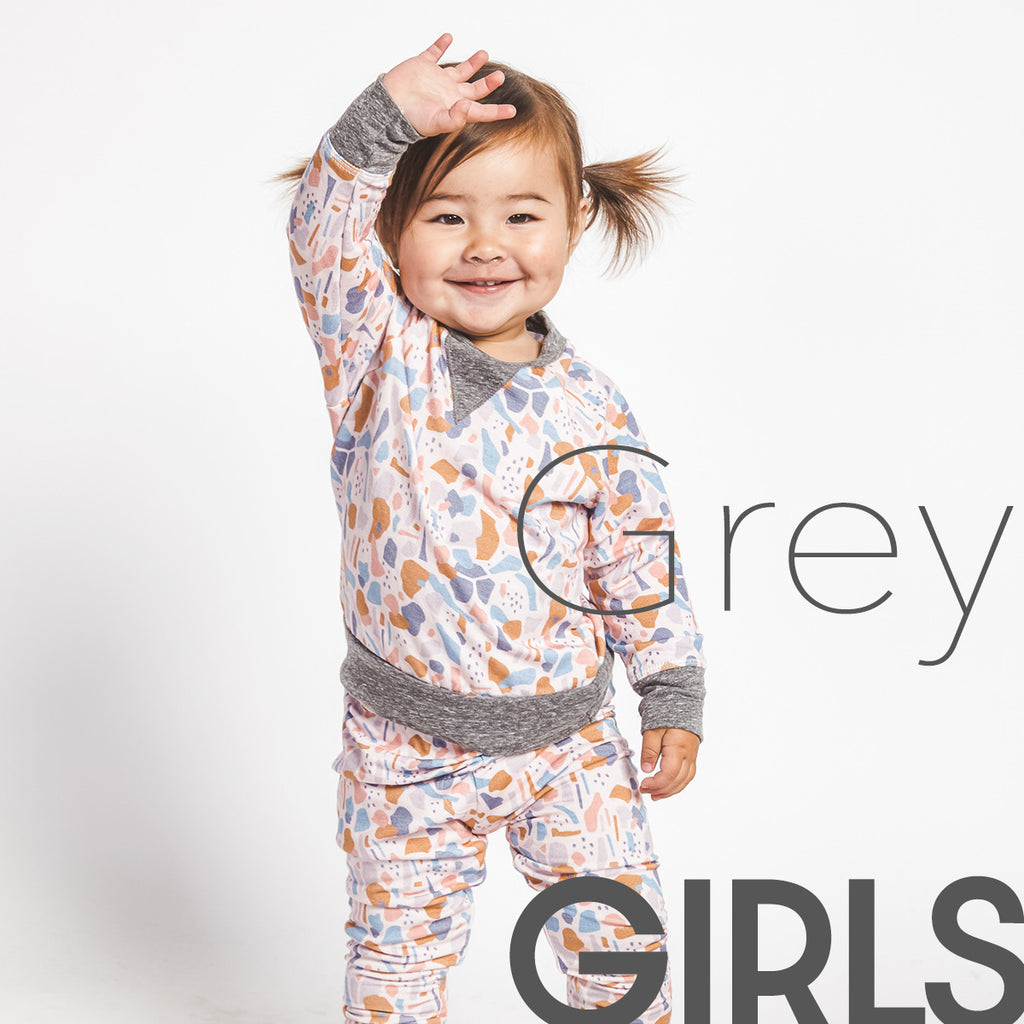 Girls Grey Vintage