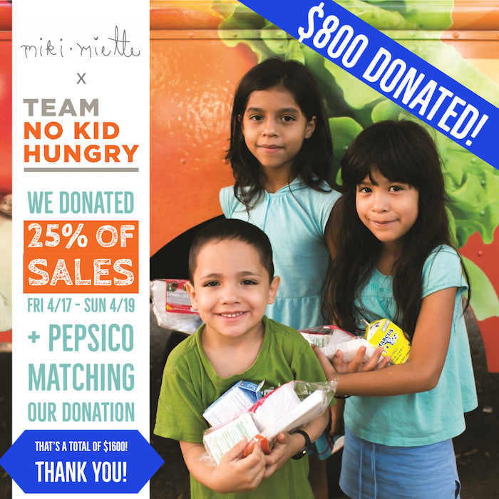 No Kid Hungry and Miki Miette Donation Partnership