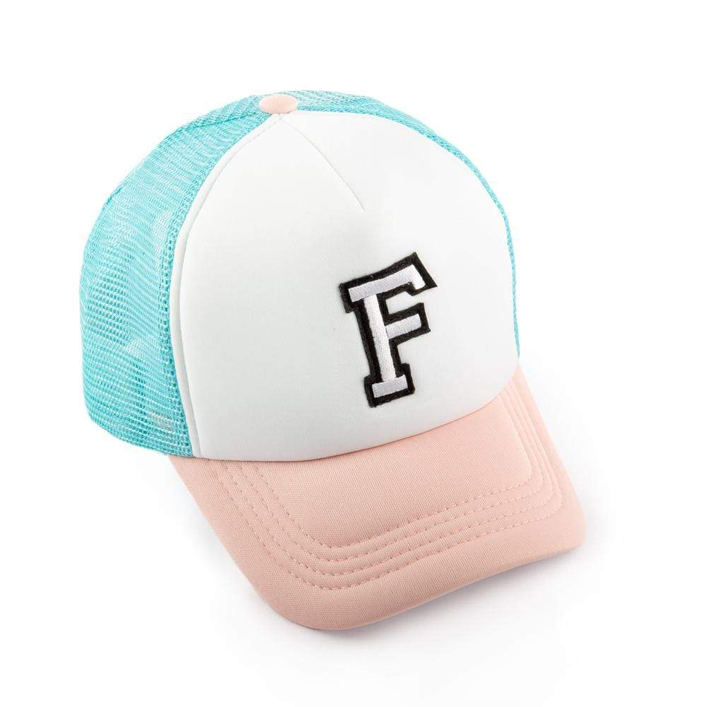 Girls F Patch Trucker Hat
