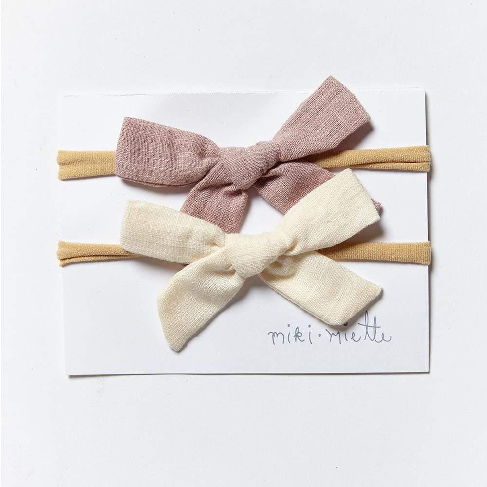 Accessories MISC / OS 2pc Bow Headband Set Sandcastle
