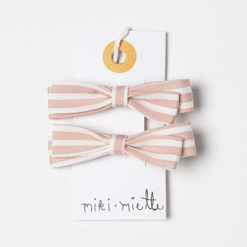 Accessories MISC / OS Stripe Bow Clip Pink