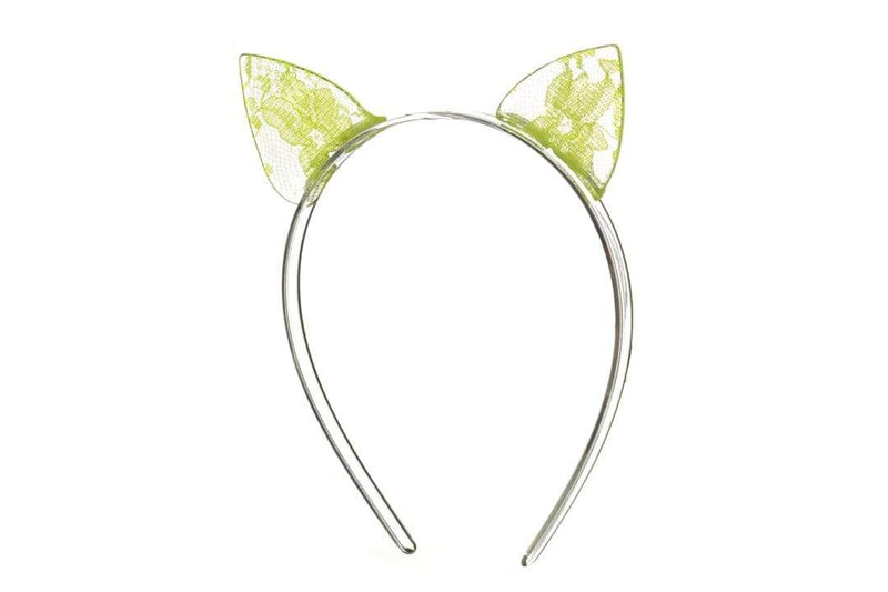 Cat Ear Headband Neon Yellow