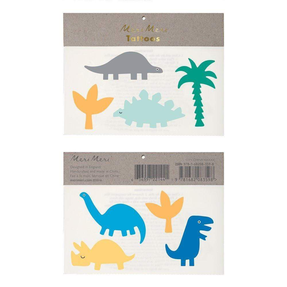 Dinosaur & Fern Large Temporary Tattoos