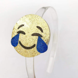 Accessories MULTI / OS Gold Happy Face Emoji Headband