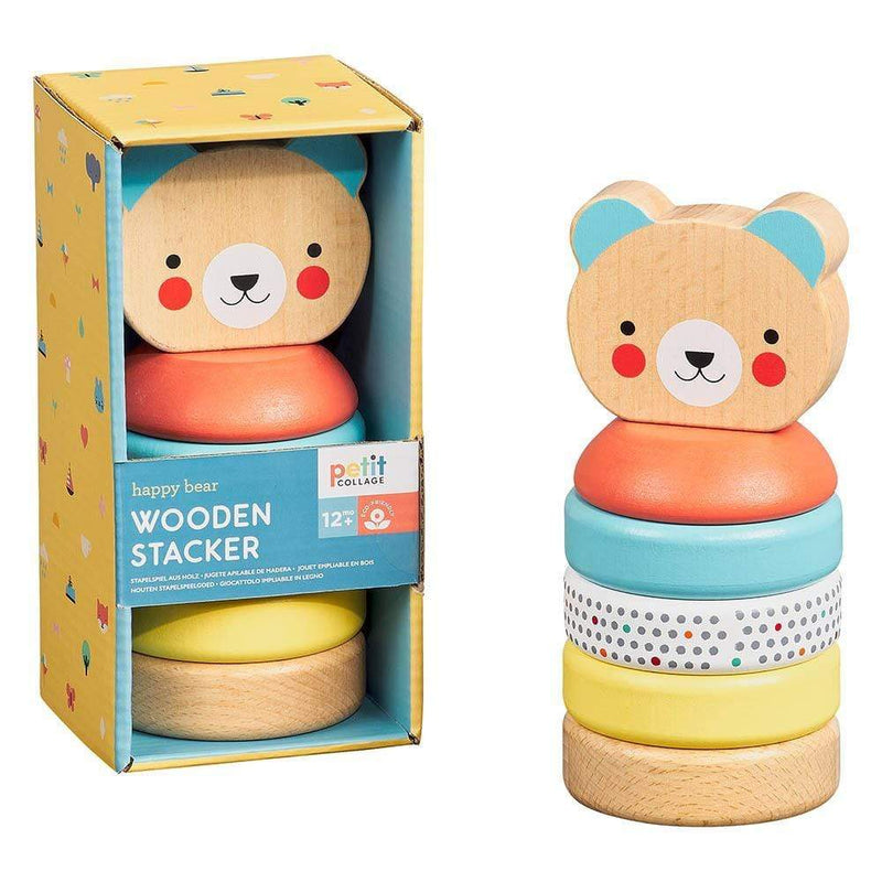 Happy Bear Wooden Stacker Toy