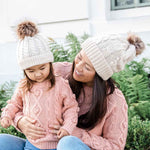 Accessories MULTI / OS Mommy + Me Matching Knit Hats Cloud