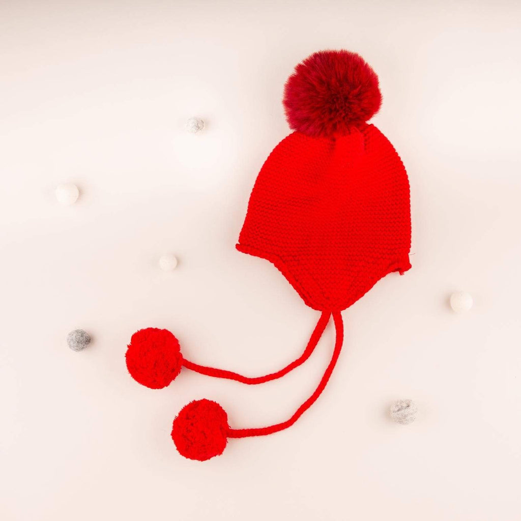 Accessories MULTI / OS Riding Hood Pom Pom Hat Red