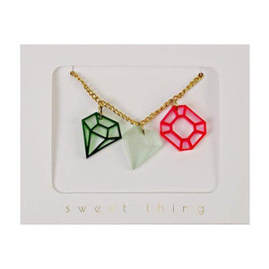 Accessories MULTI / OS Three Jewel Necklace