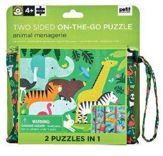 Accessories MULTI / OS Two Sided On The Go Puzzle - Animal Menagerie, 100 pc