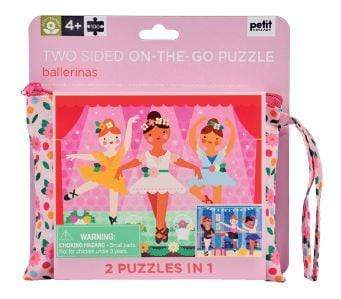 Accessories MULTI / OS Two Sided On The Go Puzzle - Ballerina, 100 pc