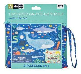 Accessories MULTI / OS Two Sided On The Go Puzzle - Under The Sea, 100 pc