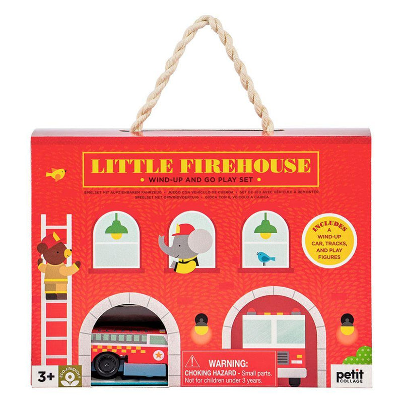 Wind Up and Go Playset - Firehouse