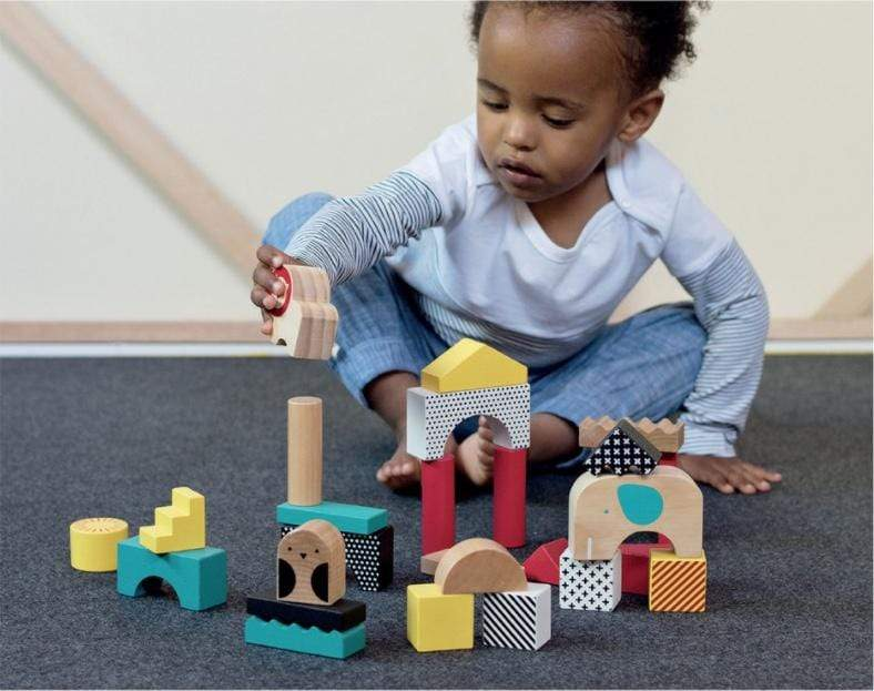 Accessories MULTI / OS Wooden Animal Town Building Blocks