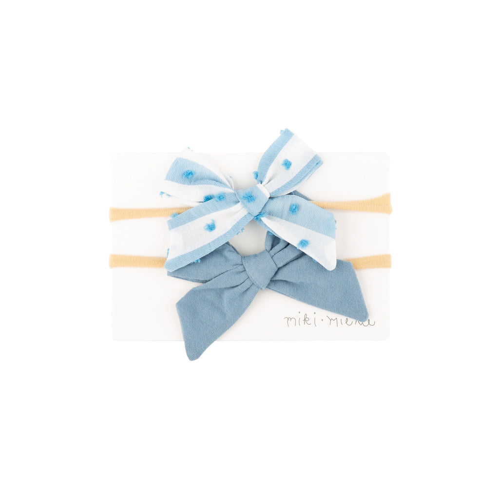Accessories ST LUCIA / OS 2 Pc Bow Headband Set St Lucia Blue