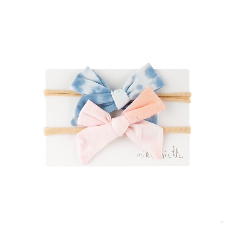 Accessories TIE DYE AW20 / OS 2 Pc Bow Headband Set Tie Dye AW20