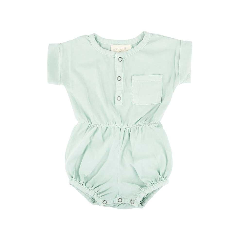 Basics Judy Bubble Romper Antigua Blue
