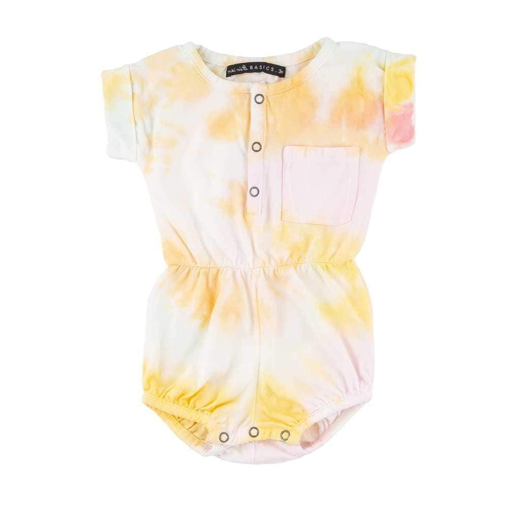 Basics Judy Bubble Romper Candy Tie Dye
