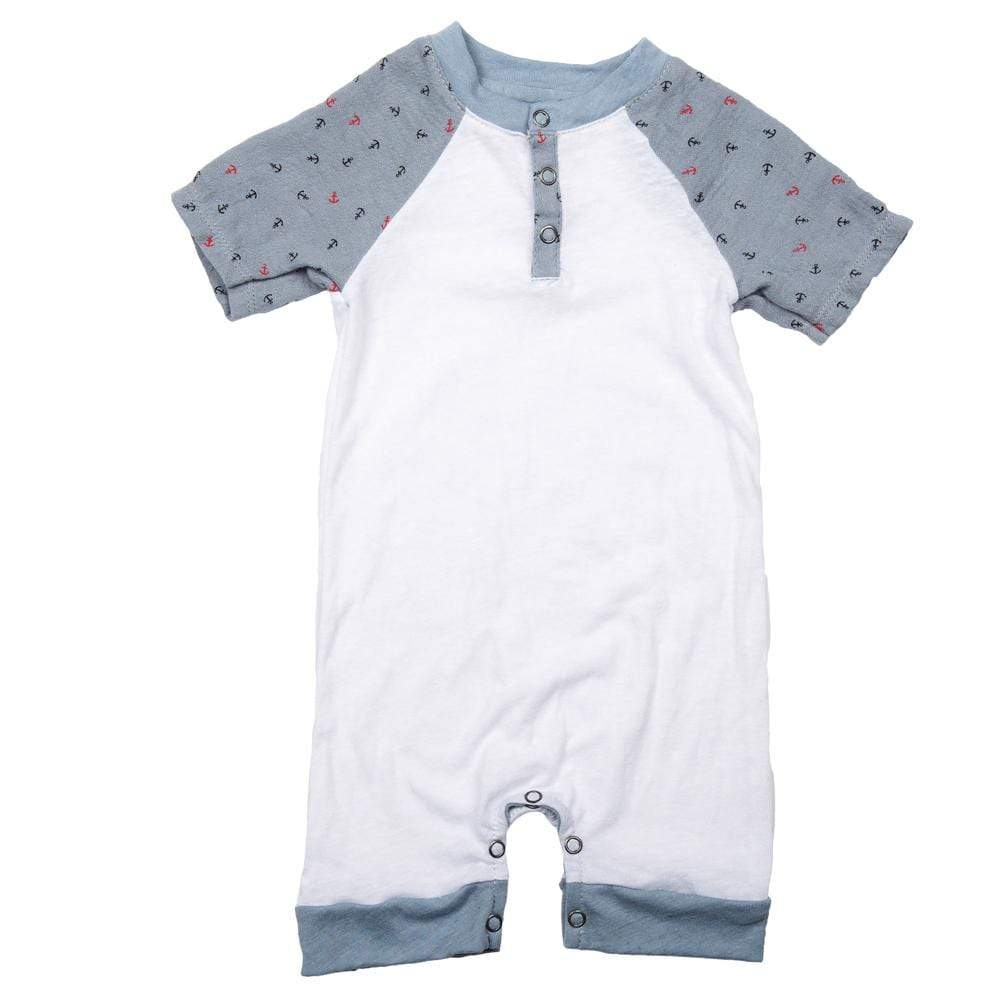 Layette ANCHOR / NB Short Romper Anchor