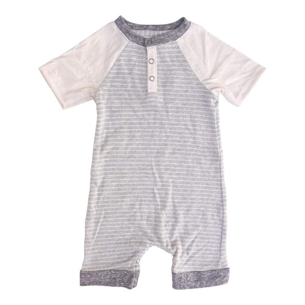 Layette CAPTAIN GREY / NB Short Romper Captain Grey
