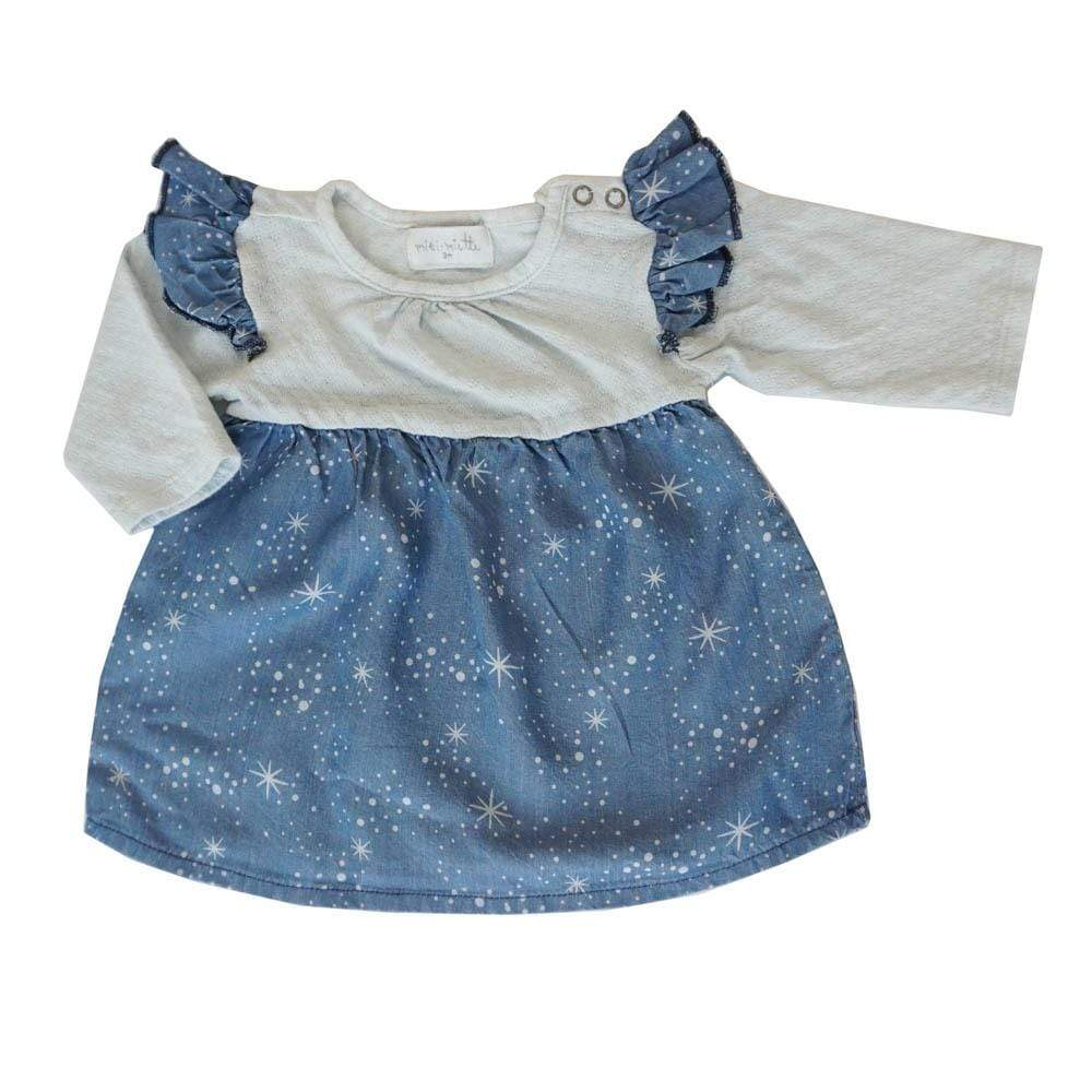 Layette coos / NB Flutter Dress Coos