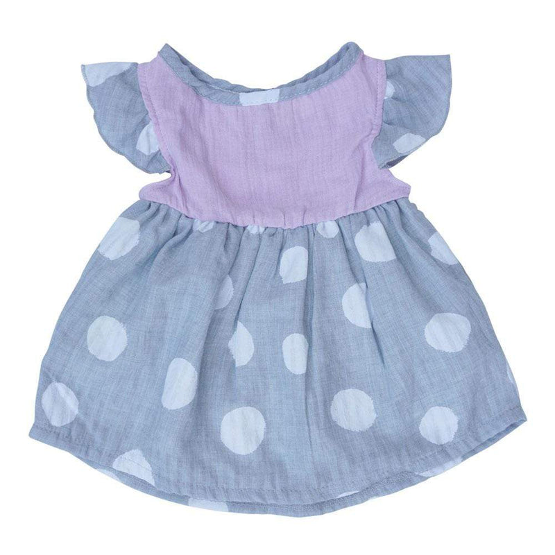 Layette Dress Orchid Dot