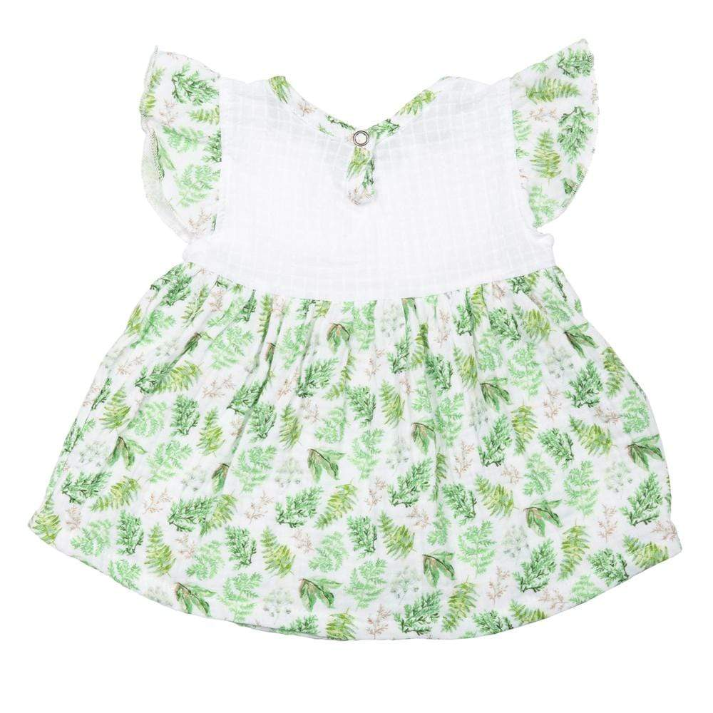 Layette Flutter Dress Ferns