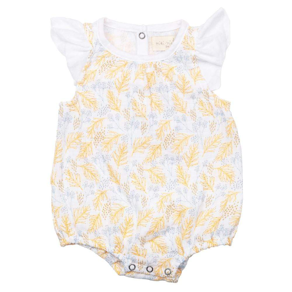 Layette Isidora Bubble Romper Coral Reef