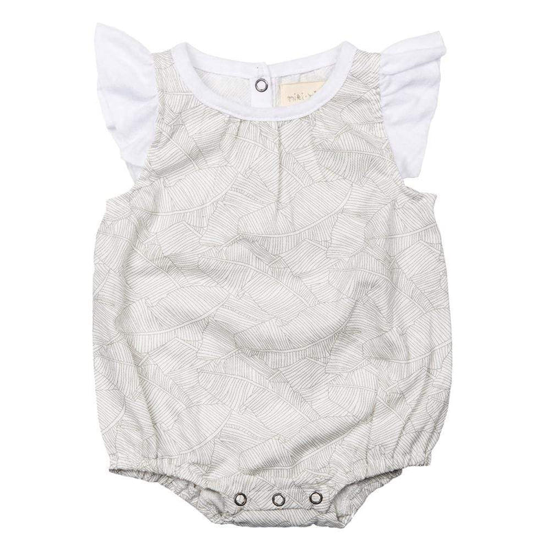 Layette Isidora Bubble Romper Grey Palm