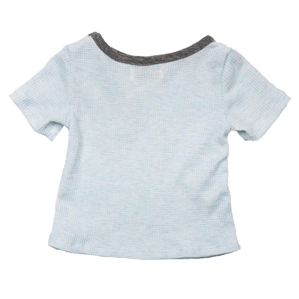 Layette Pocket Tee Azure