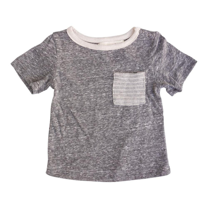 Layette Pocket Tee Captain Grey
