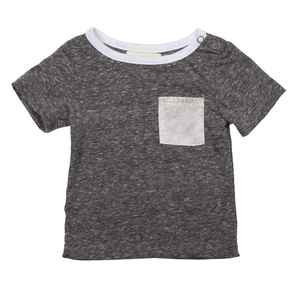 Layette Pocket Tee Grey Palm