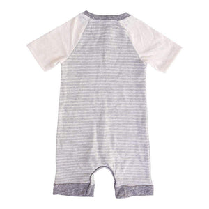 Layette Short Romper Captain Grey