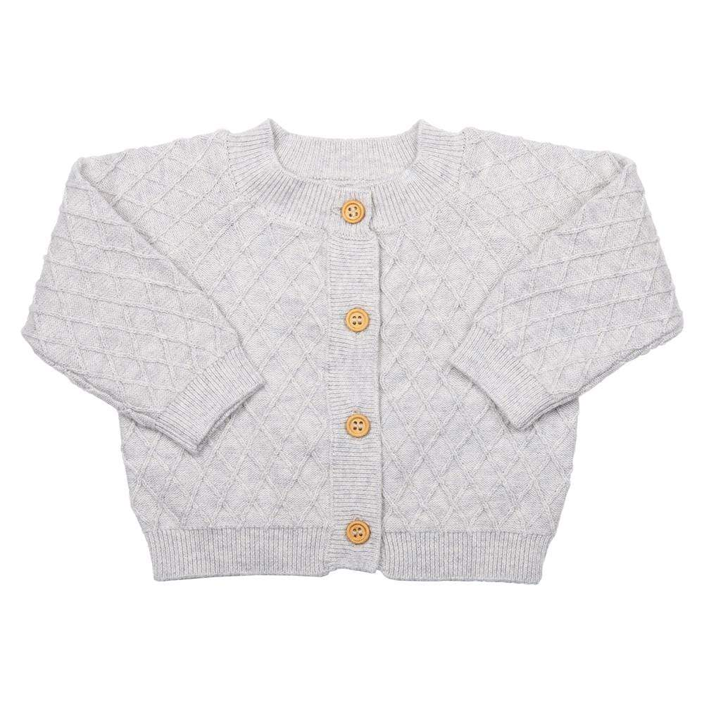 Layette Sweater Knit Cardigan Grey
