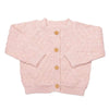 Sweater Knit Cardigan Rose