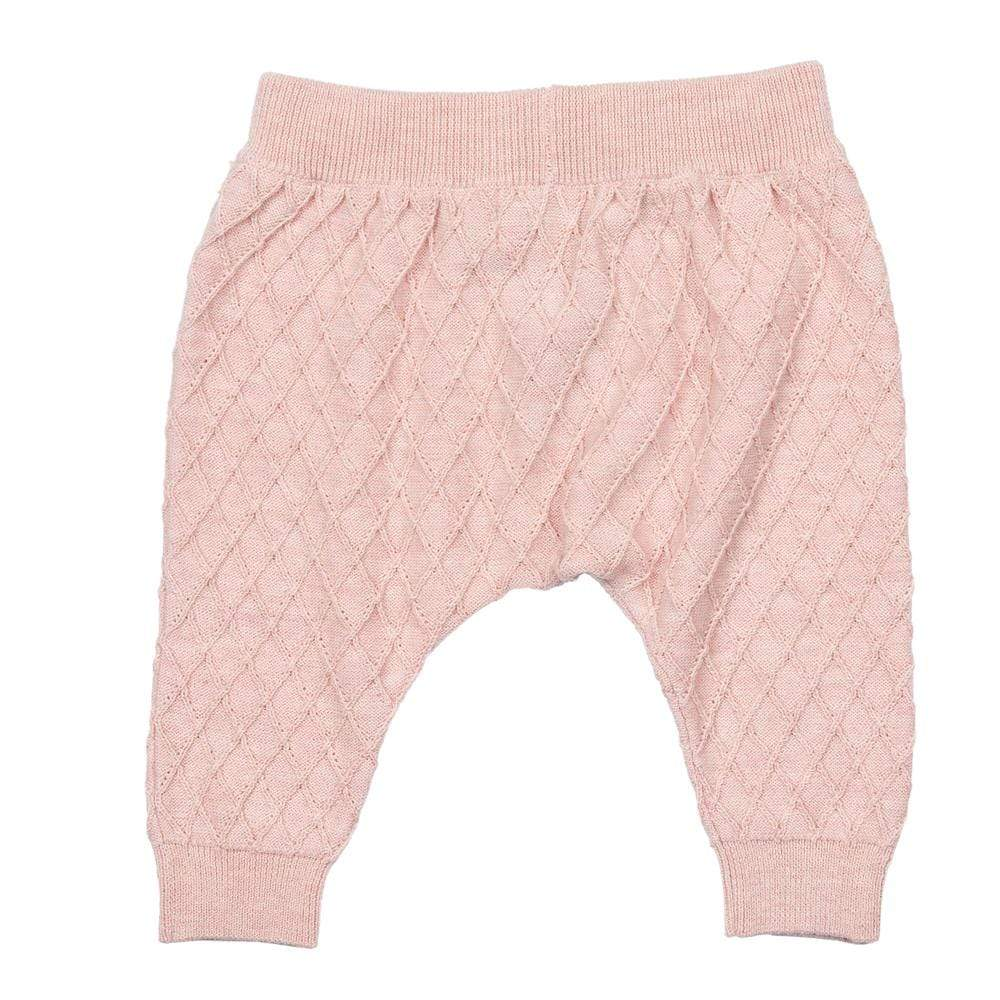Layette Sweater Knit City Jogger Rose
