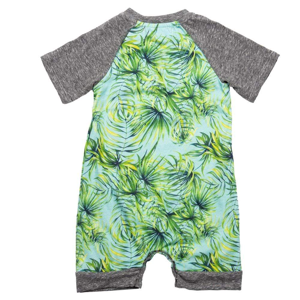 Teddy Romper Aqua Palm