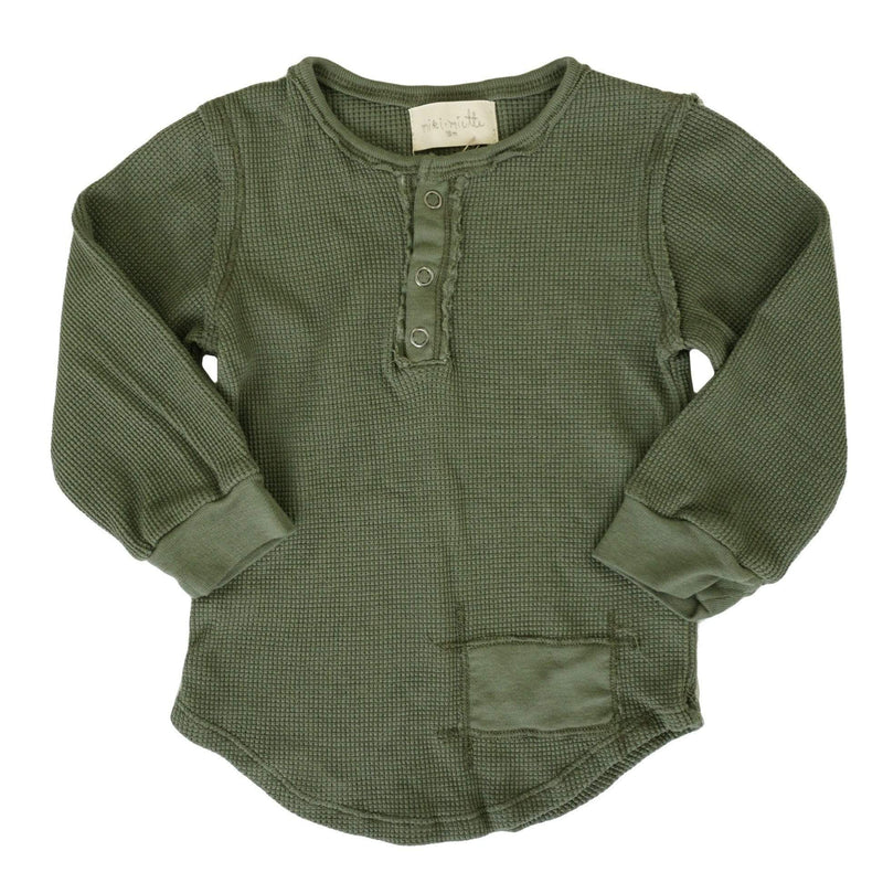 Parker Boys Henley Army Green