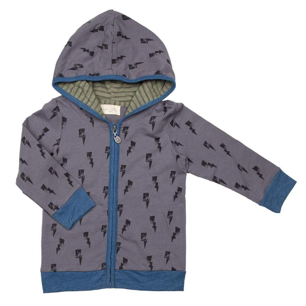 Little Dudes Finley Zip Up Hoodie Rumble
