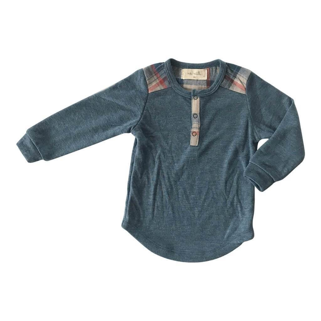 Little Dudes Garnett Long Sleeve Henley Cool Hand Luke
