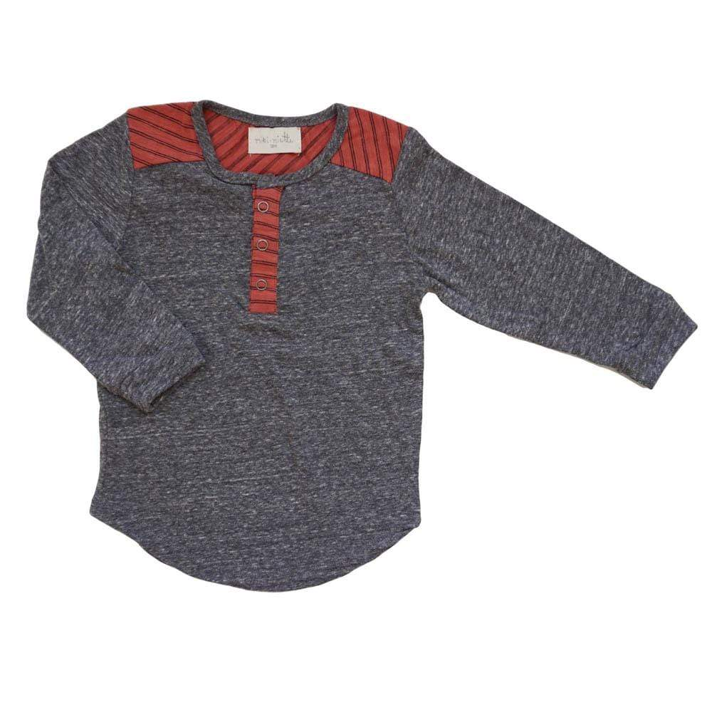 Little Dudes recess / 3m Tommy Long Sleeve Henley Recess