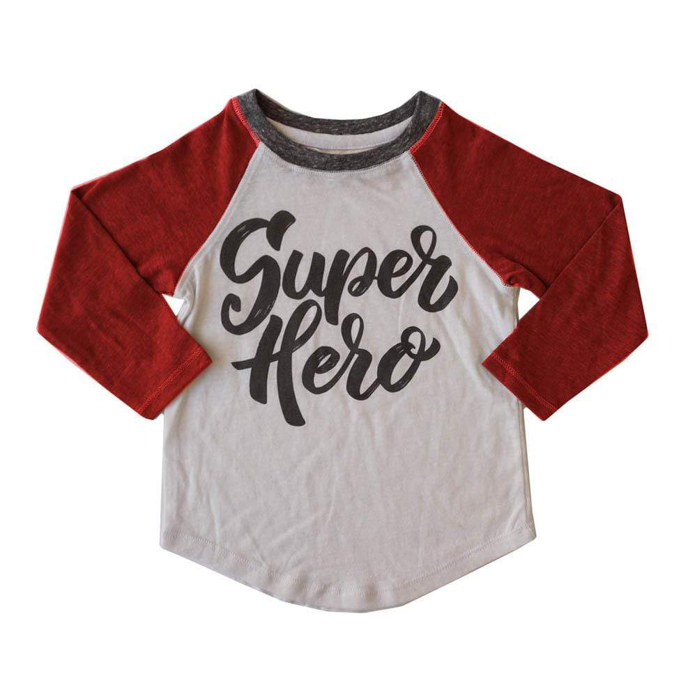 little dudes superhero / 3m Superhero Boys Long Sleeve Raglan
