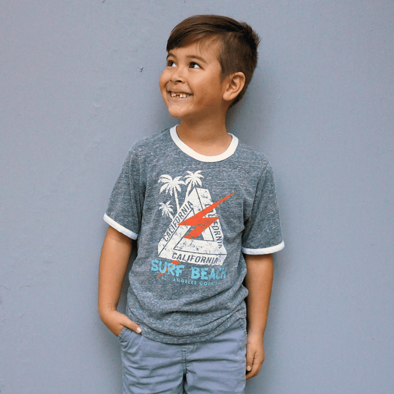 Surf Lightning Boys Ringer Tshirt