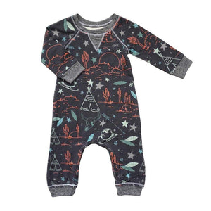 little dudes wild west / 3m Henry Boys Romper Wild West