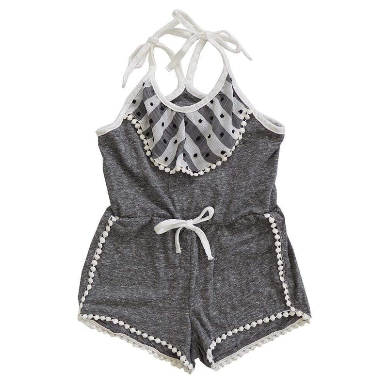 Little Gals Aria Romper St Lucia Black