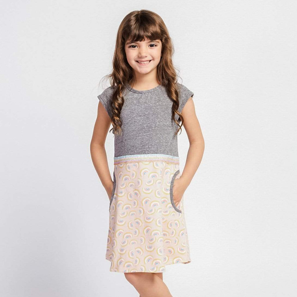 Little Gals Aya Dress Rainbow