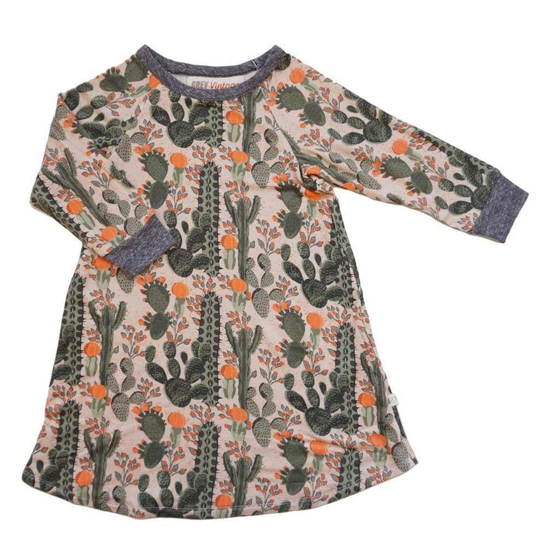 Samara Girls Dress Desert Cactus