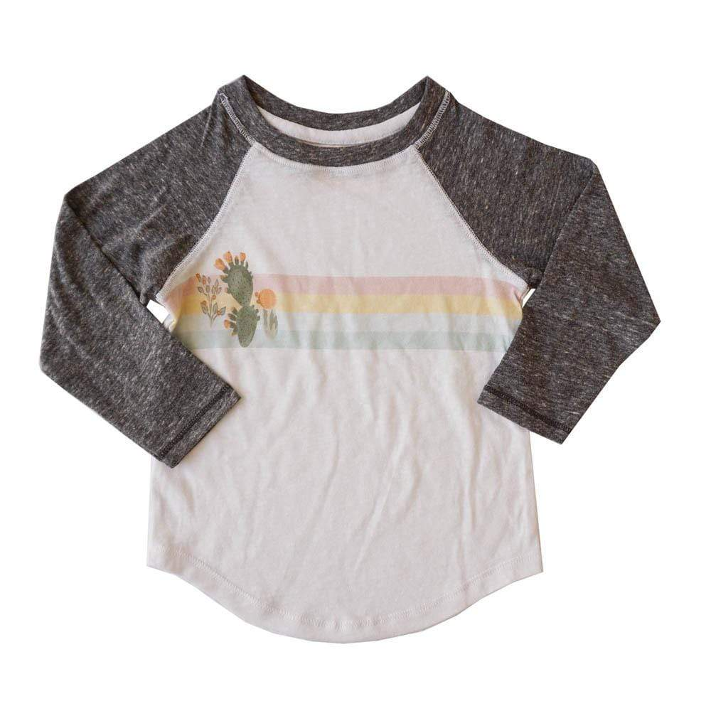 little gals desert cactus / 3m Desert Cactus Girls Long Sleeve Raglan
