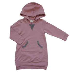 Little Gals desert sand / 3m Zoe Hoodie Dress Desert Sand