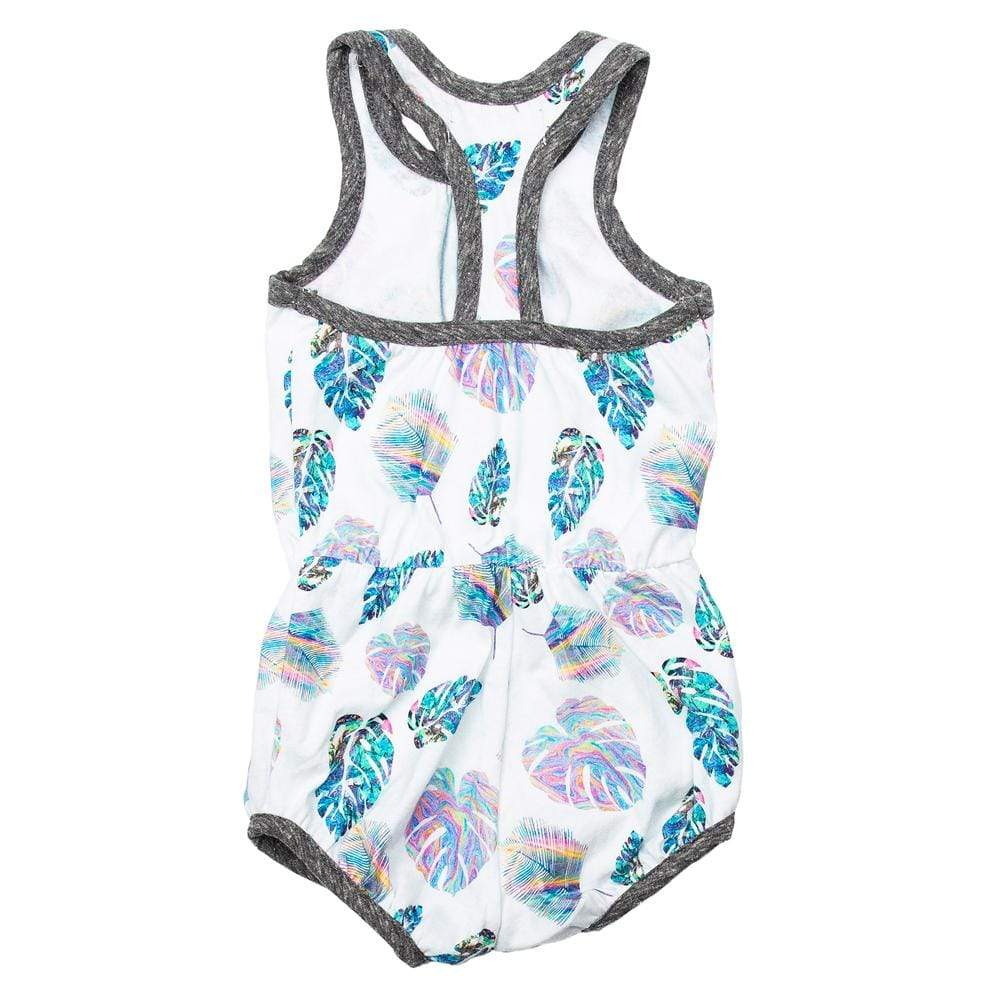 Everly Bubble Romper Holographic Palm