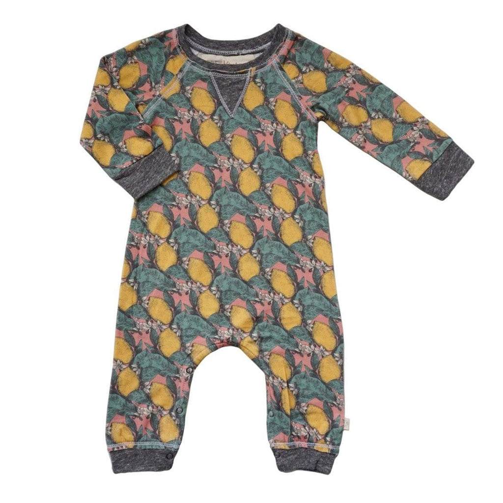 Little Gals Girls Romper Lemon Tree
